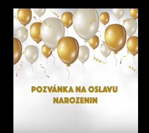 pozvánka na oslavu narozenin balónky