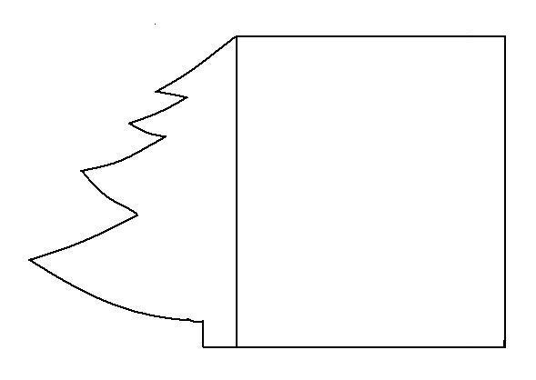 Sablona vanocni stromecek jpg