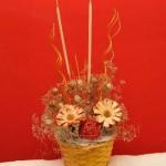 suché květiny, aranžování